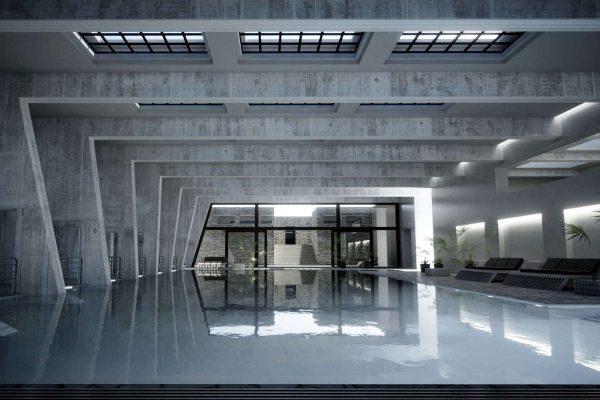 3D Visualisierungen Architektur - Innenraum Schwimmbad fotorealistisch hohe Auflösung