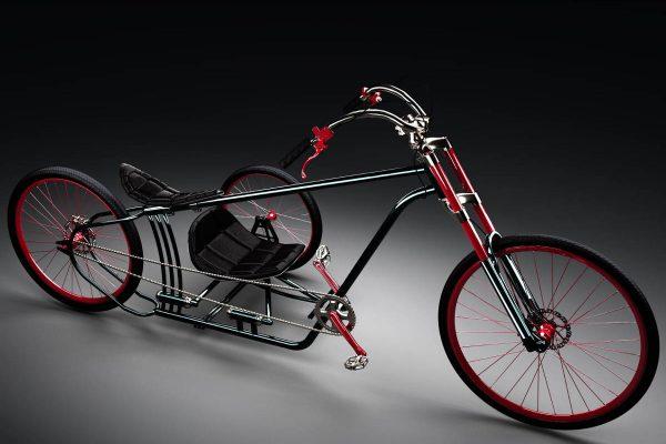 3D Produktvisualisierungen Dresden: Fahrrad mit Beiwagen: Produktpräsentation Variante Metall Ansicht von der anderen Seite